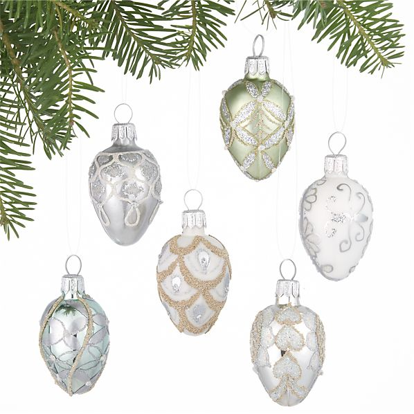 Set of 6 Egg Ornaments