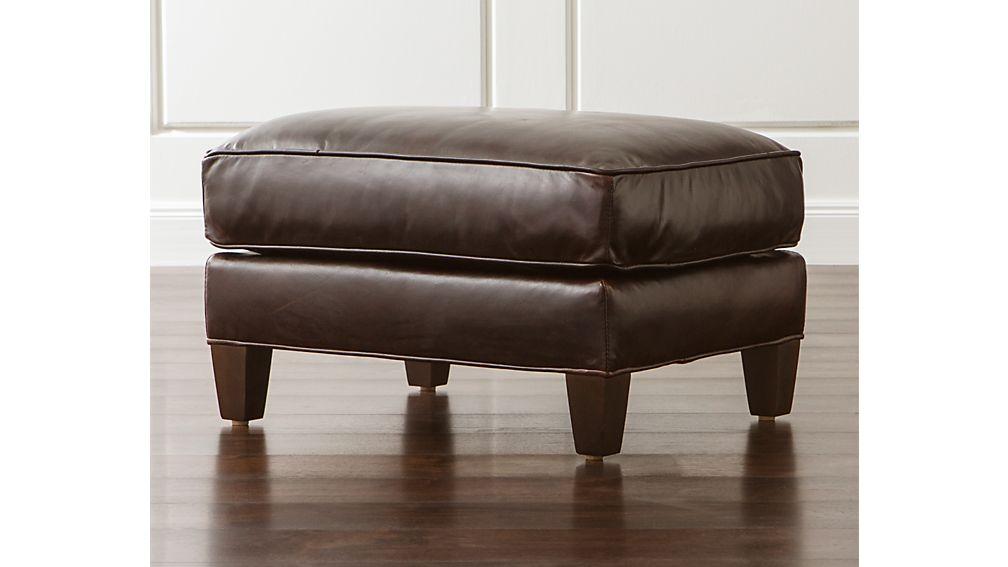 Eiffel Leather Ottoman