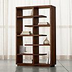 "Elevate Walnut 68"" Bookcase."