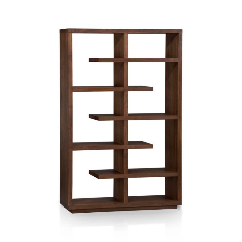 "Elevate Walnut 68"" Bookcase In Bookcases"