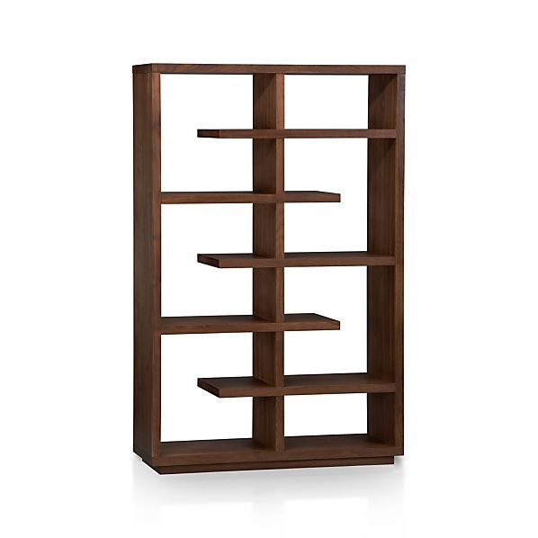 ElevateWalnutBookcase3QF10