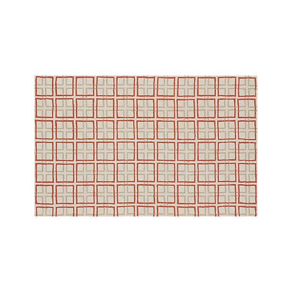 Elias Orange Wool 5'x8' Rug