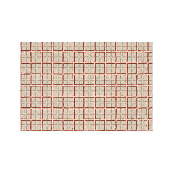 Elias Orange Wool 6'x9' Rug