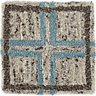 Elias Sky Blue Wool Rug Swatch.