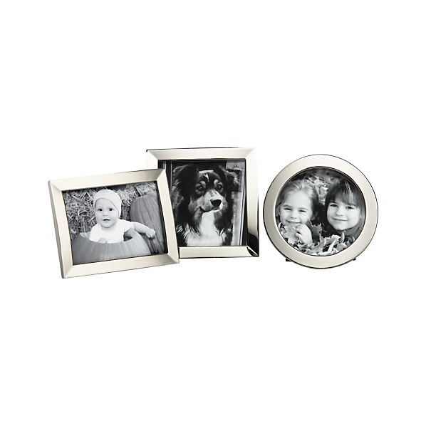 "Set of 3 Eliza 2.5x3/3""dia./2.75""x2.75"" Mini Frames"