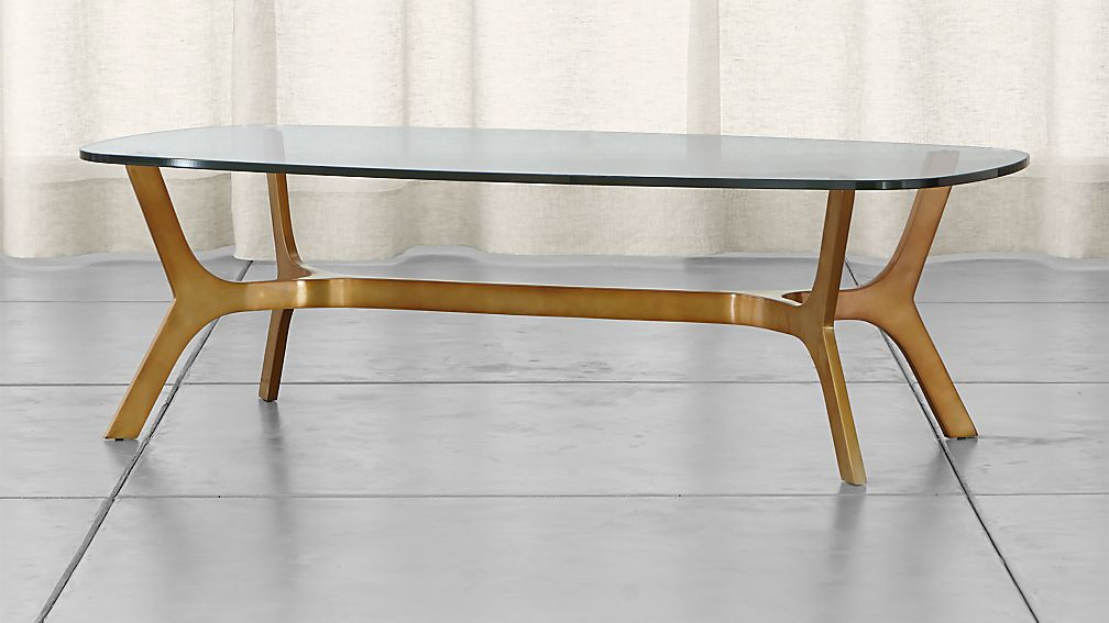 Elke glass coffee table in coffee tables side tables for Coffee table crate and barrel