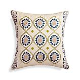 "Ella Square 20"" Pillow with Down-Alternative Insert"