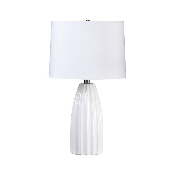 Ella White Table Lamp