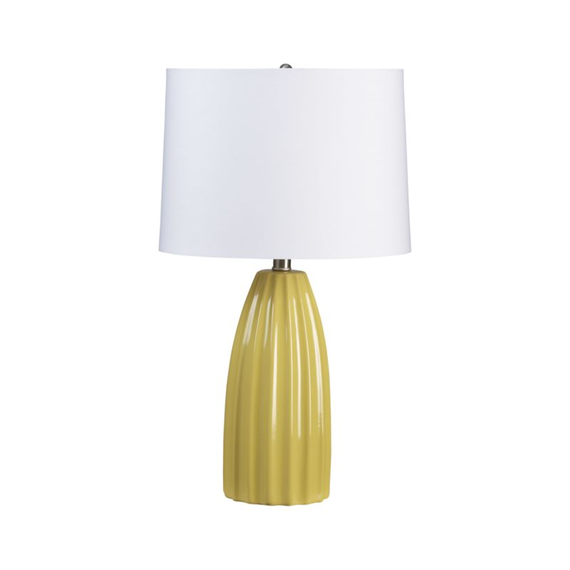 ella yellow table lamp crate and barrel. Black Bedroom Furniture Sets. Home Design Ideas