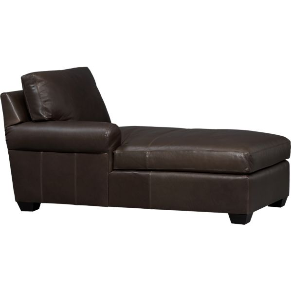 Ellis Leather Left Arm Chaise