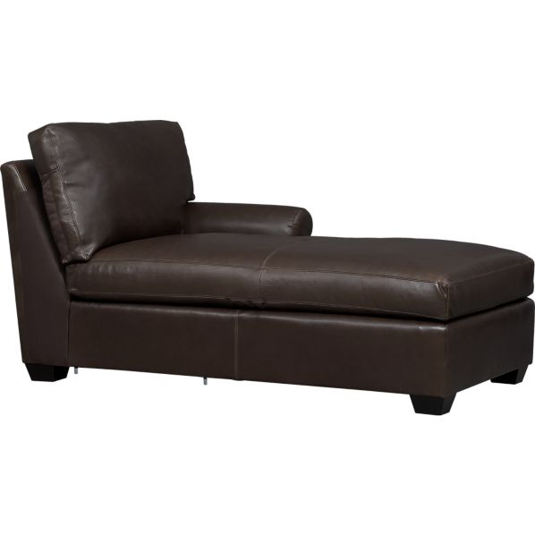 Ellis Leather Right Arm Chaise