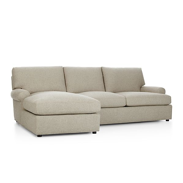 Ellyson 2 piece sectional sofa crate and barrel for Crate and barrel lounge 2 piece sectional sofa