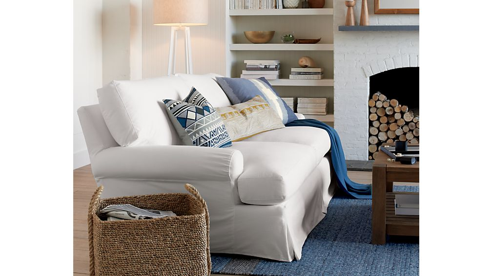 Ellyson Slipcovered Sofa Optic White Crate And Barrel