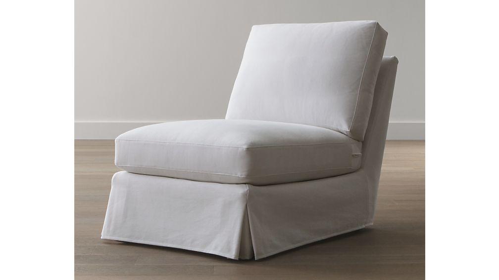 Ellyson Slipcovered Armless Chair