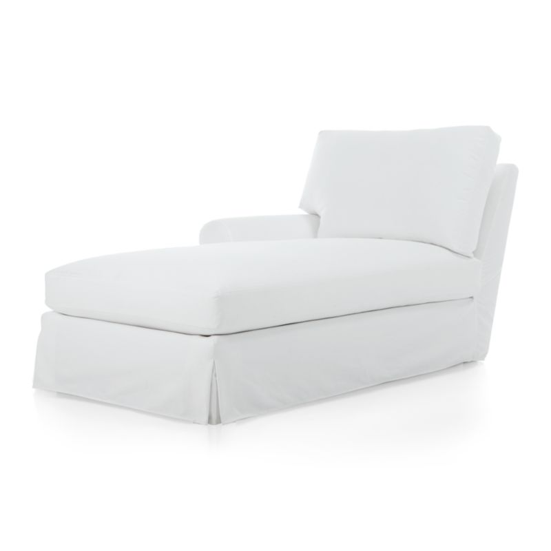 Traditional roll-arm sofa takes a relaxed turn, rolling arms wide and plumping the welcoming frame with indulgently soft seat and back cushions. Easy-going slipcovers lend a breezy look in 100% cotton. Understated recessed block legs provide subtle support.<br /><br />After you place your order, we will send a fabric swatch via next day air for your final approval. We will contact you to verify both your receipt and approval of the fabric swatch before finalizing your order.<br /><br /><NEWTAG/><ul><li>Certified kiln-dried engineered hardwood</li><li>Sinuous wire suspension</li><li>Seat cushions are soy-based polyfoam with feather-down blend in downproof ticking</li><li>Back cushions are feather-down blend in downproof ticking</li><li>100% cotton slipcover with topstitch detail</li><li>Removable slipcovers are machine washable</li><li>Muslin base fabric</li><li>Plastic legs</li><li>Made in North Carolina, USA</li></ul>