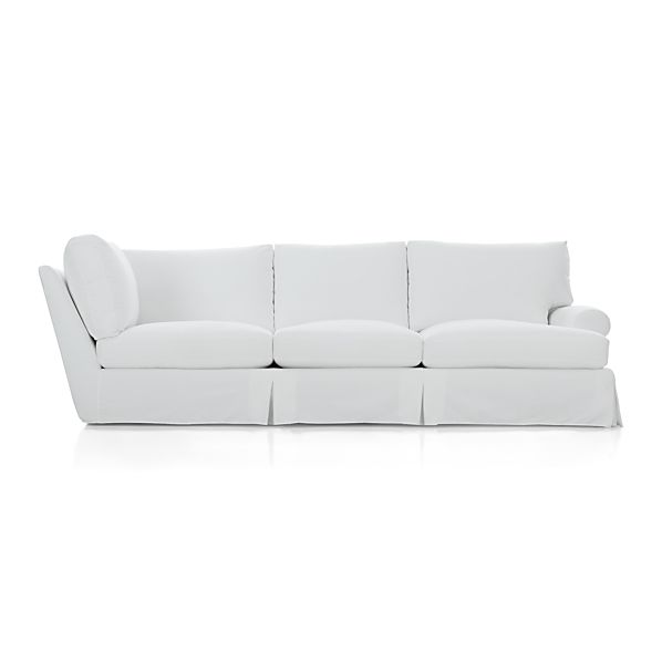 slipcover only for ellyson right arm corner sofa optic white crate