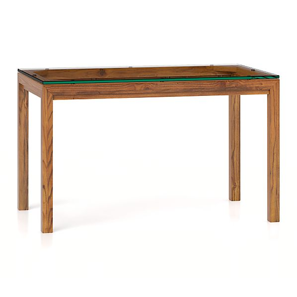 Clear Glass Top Elm Base Dining Tables Crate And Barrel