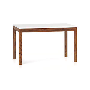 White Top/ Elm Base 48x28 Dining Table