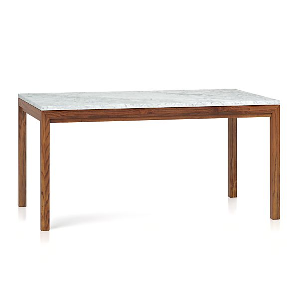 Marble Top Elm Base 60x36 Dining Table In Dining Tables