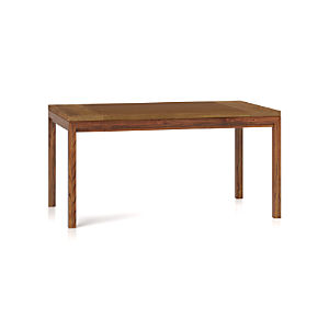 Teak Top/ Elm Base 60x36 Dining Table