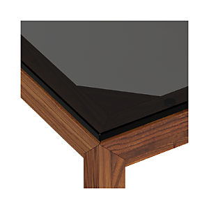Grey Glass Top/ Elm Base Dining Tables