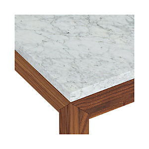 Marble Top/ Elm Base Dining Tables