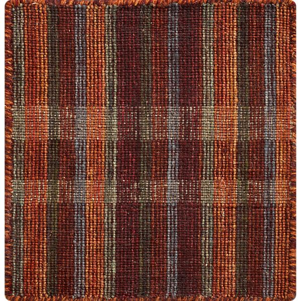 "Elmer Rust 12"" sq. Rug Swatch"
