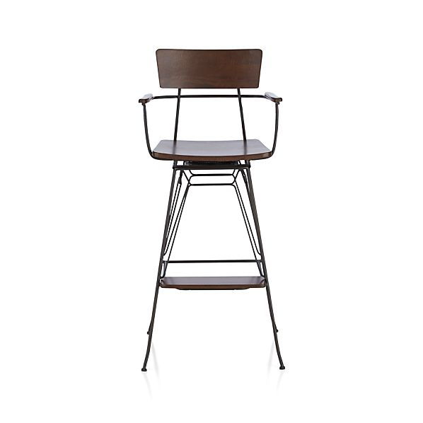 Elston Swivel Bar Stool In Bar Stools Crate And Barrel