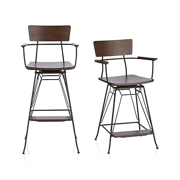 Elston Swivel Bar Stools Crate And Barrel