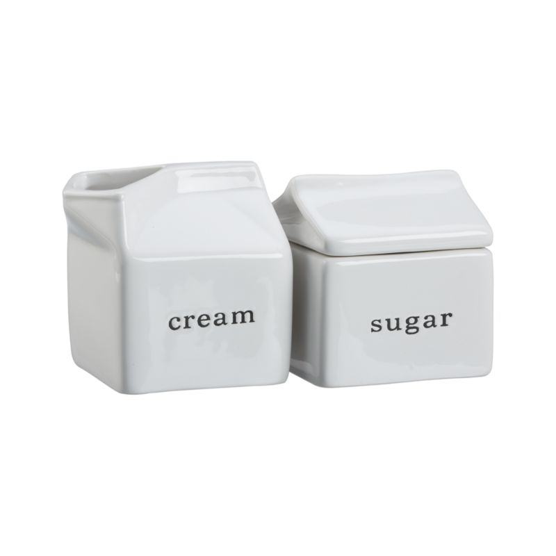 Embossed Cream and Sugar