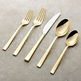 Emory Gold 20-Piece Flatware Set