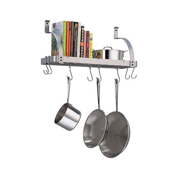Enclume® Bookshelf Pot Rack with Bonus