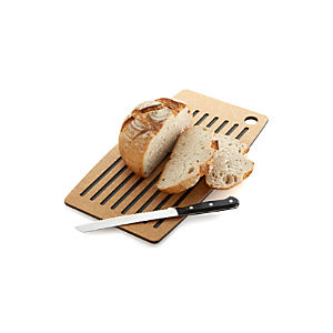Epicurean ® Natural Dishwasher-Safe Groove Bread Board