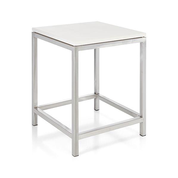 Romy Square Metal Coffee Table Am Pm: Era Limestone Side Table