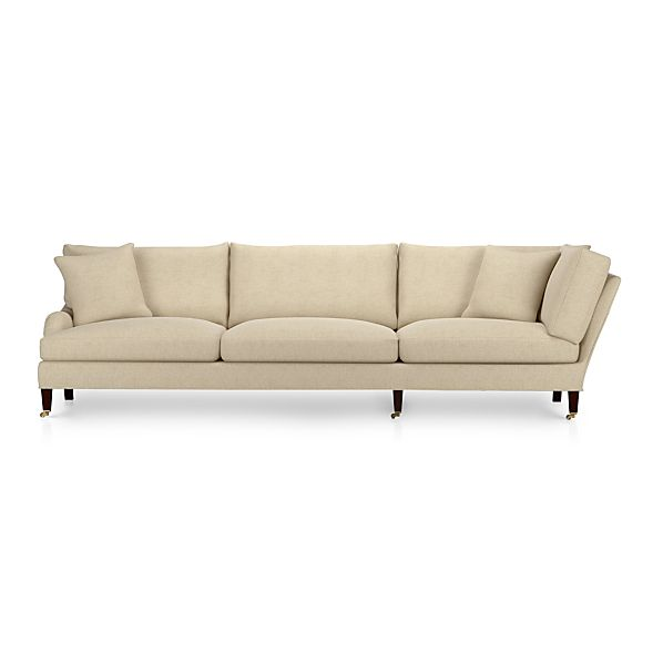 Essex Left Arm Corner Sectional Sofa with Casters