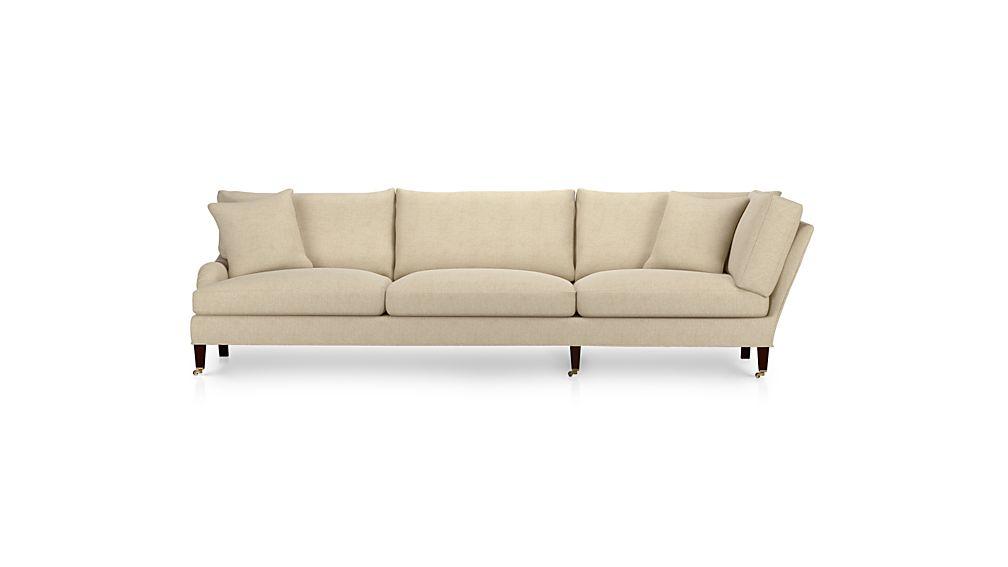 Essex Left Arm Corner Sofa with Casters