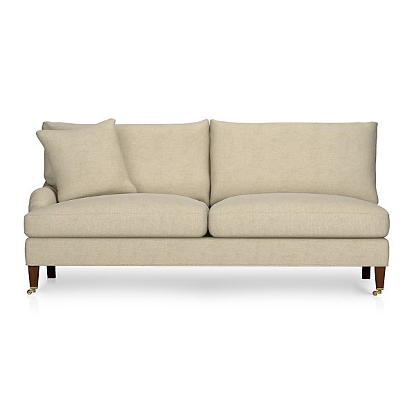Essex Left Arm Sectional Sofa with Casters