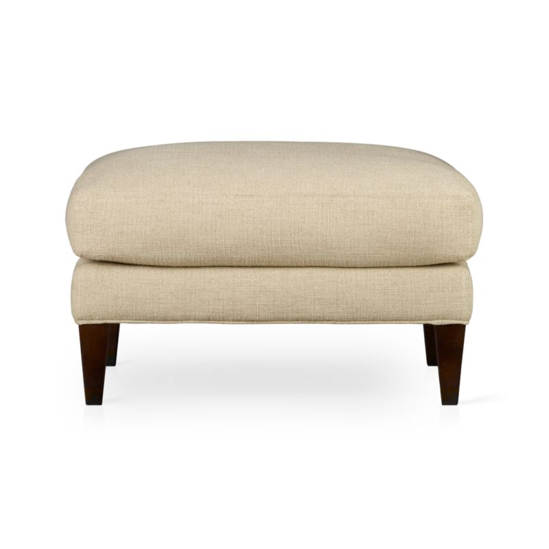 Classic shape and traditional styling. Comfortable semi-attached cushion sits extra plush in feather down wrapped around soy-based foam. Hardwood legs with black walnut stain.<br /><br />After you place your order, we will send a fabric swatch via next day air for your final approval. We will contact you to verify both your receipt and approval of the fabric swatch before finalizing your order.<br /><br /><NEWTAG/><ul><li>Eco-friendly construction</li><li>Certified sustainable, kiln-dried hardwood frame</li><li>Top cushion is multilayer soy-based foam surrounded by a down-fiber blend encased in downproof ticking</li><li>Sinuous wire spring suspension</li><li>Upholstery fabric is 55% linen, 45% cotton with a topstitched detail</li><li>Hardwood legs have a black walnut finish</li><li>Benchmade</li><li>Made in North Carolina, USA</li></ul>