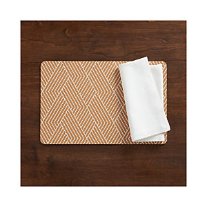 Etch Cork Placemat and Adobe Napkin