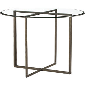 Everitt 42 Round Glass Top Dining Table