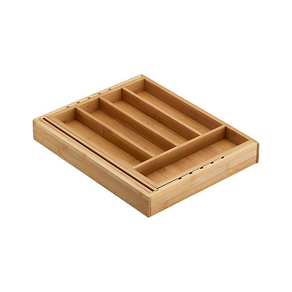 Expandable Bamboo Flatware Tray in Food Containers, Storage ...