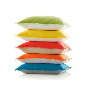 "Eyelash Yellow and White 20"" Pillow"