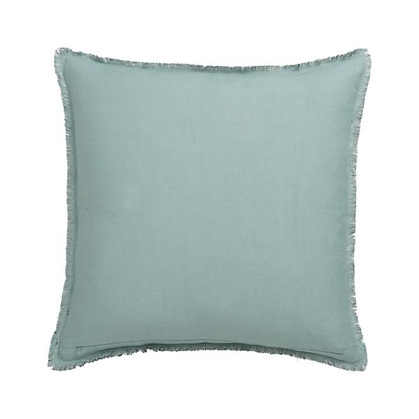 "Eyelash Lake and Grey 20"" Pillow with Down-Alternative Insert"
