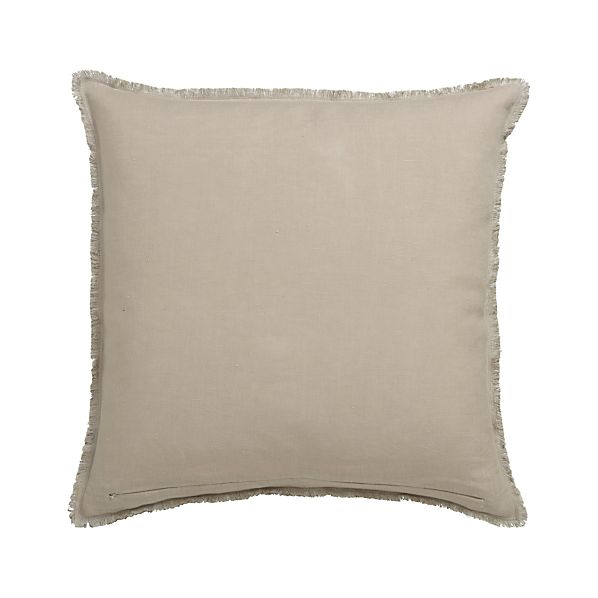 "Eyelash Putty and Neutral 20"" Pillow with Down-Alternative Insert"