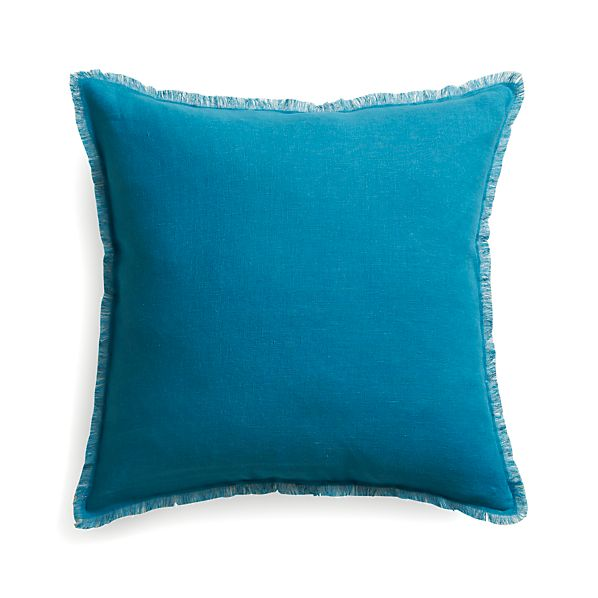 "Eyelash Blue and Grey 20"" Pillow"