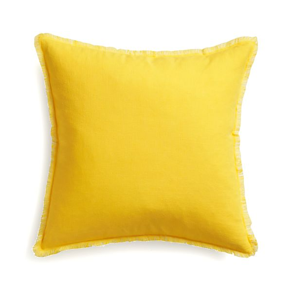 "Eyelash Yellow and White 20"" Pillow"