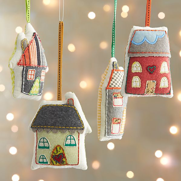 Fabric House Ornaments