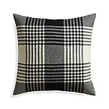 "Fala Plaid 23"" Pillow with Feather Insert"