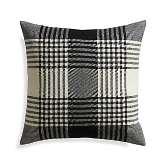 "Fala Plaid 23"" Pillow with Down-Alternative Insert"