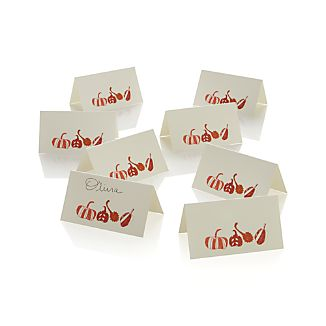 Set of 8 Fall Harvest Placecards Set of Eight